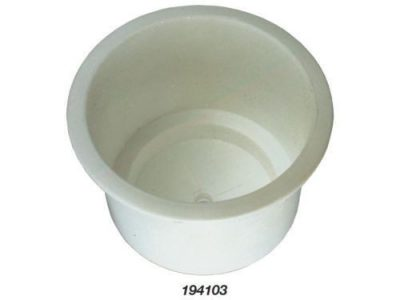 BLA DRINK HOLDER RECESSED WHITE PLASTIC