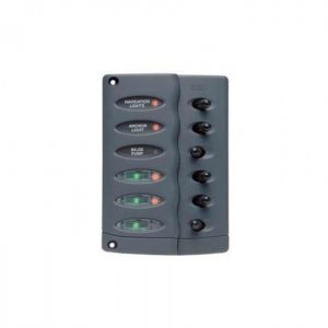 BEP MARINE CONTOUR SWITCH PANEL 6 WAY VERT 12-24V