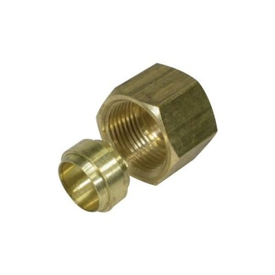 BLA BRASS TUBE NUT AND OLIVE 3/8""