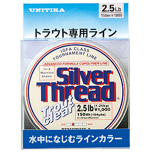 SILVER THREAD TROUT CLEAR 150M