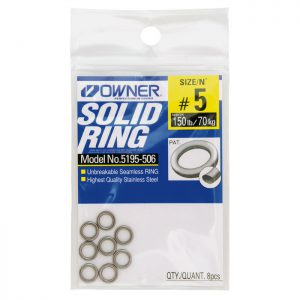 SOLID RING #5 8PK 150LB