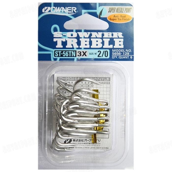 OWNER TREBLE ST56TN 3X #1/0 6PK 1