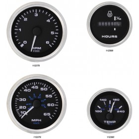 Veethree Instruments Premier Pro Domed Staineless Steel Gauges