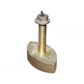 Bronze thru-hull dual beam transducer - 20° & 60°
