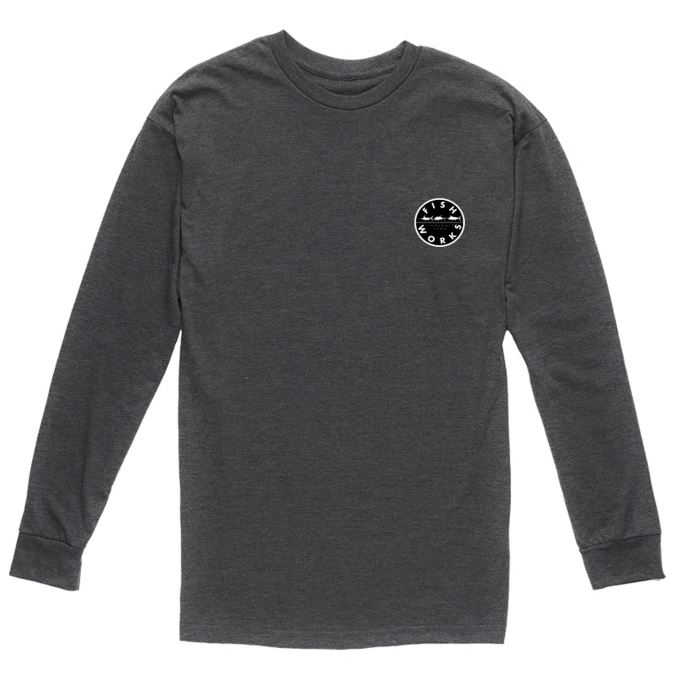 Long Sleeve Tee Charcoal front