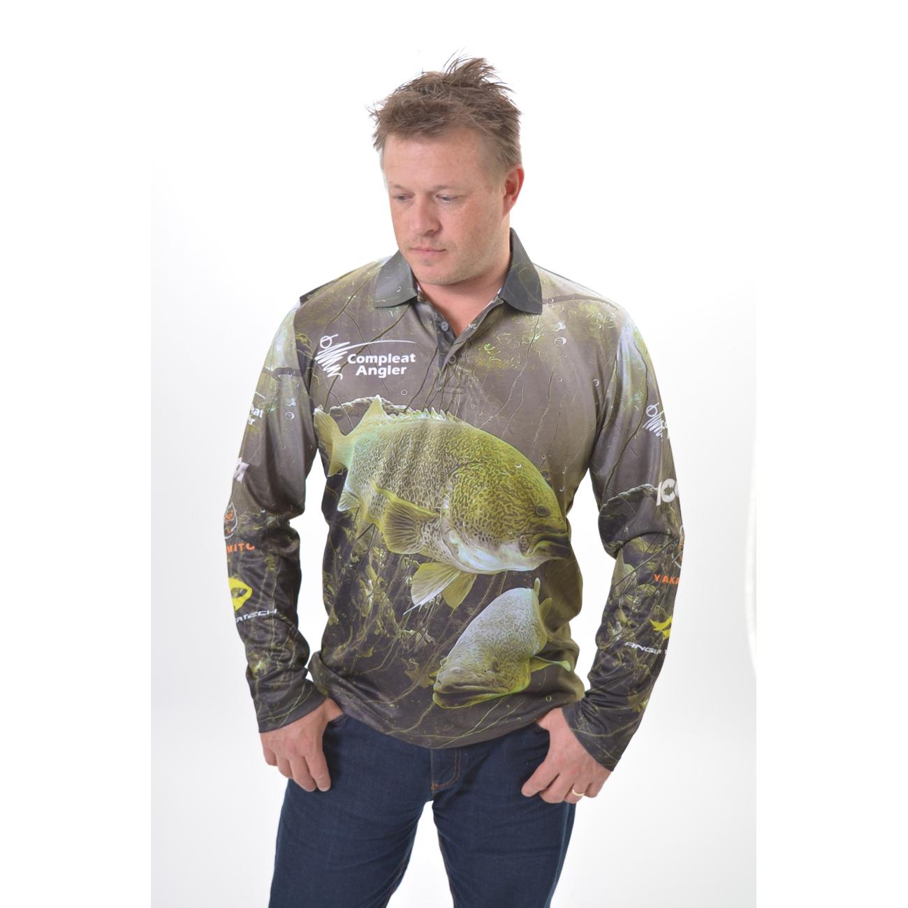 fishing shirt green